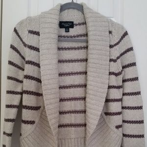 American Eagle Outfitters cardigan, light gray w/p